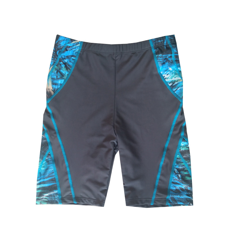 2019 New Style Loose-Fit Plus-sized Swimming Trunks Short Hot Springs Men Boxer Short Adult Swimming Trunks