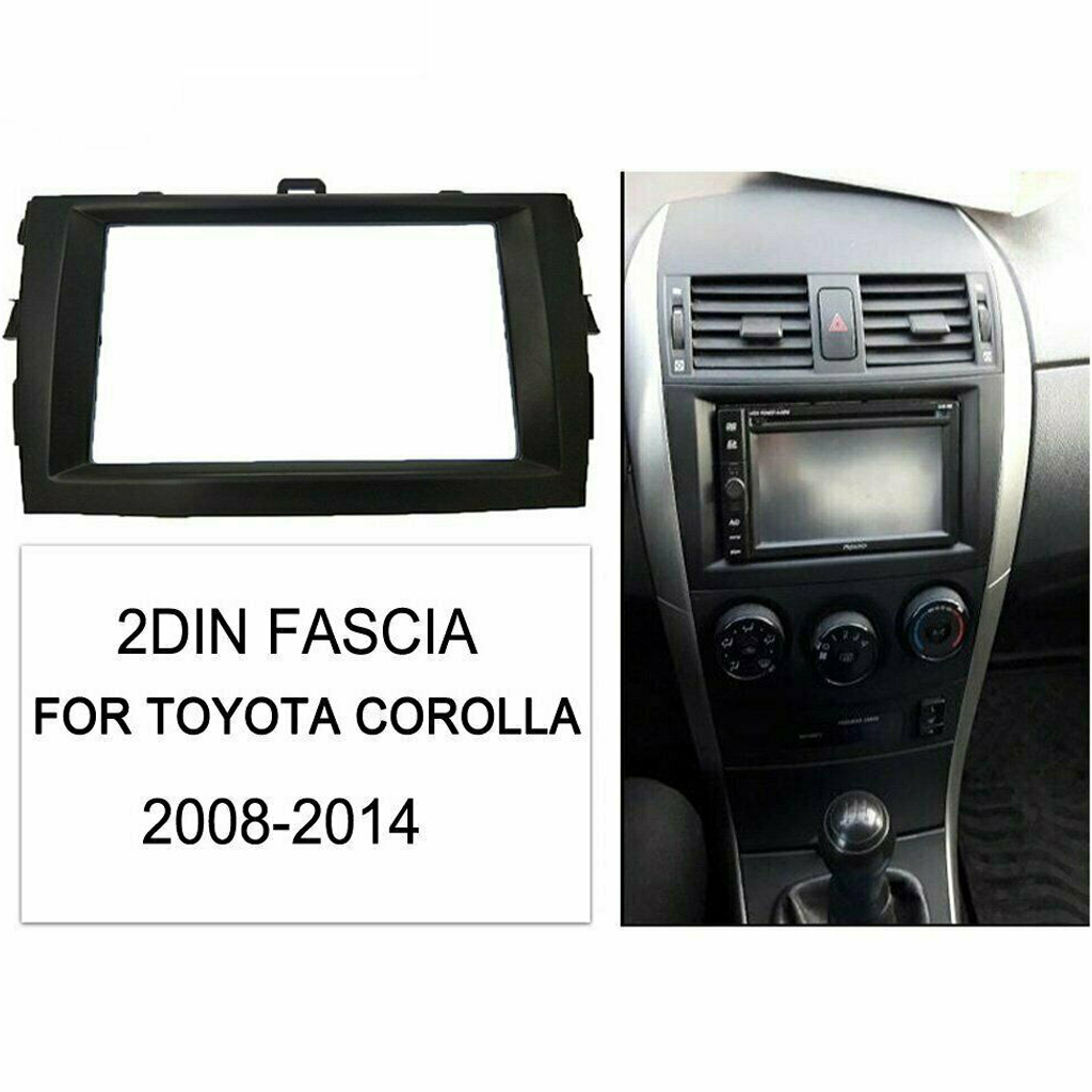 Auto Car Dash Radio Fascia Double 2 Din Panel For Toyota Corolla 2008-2010
