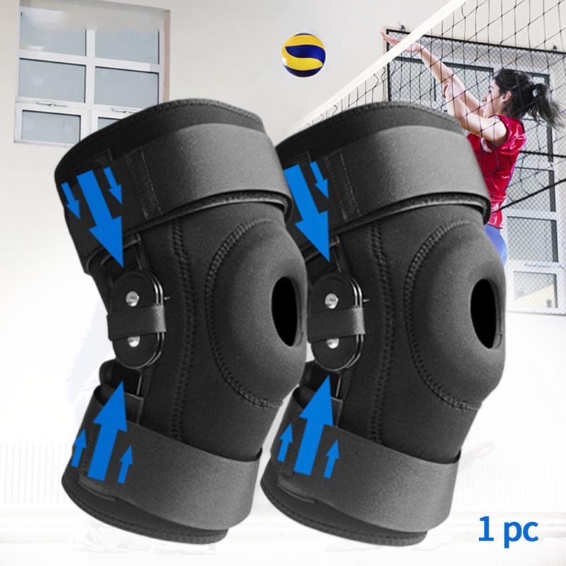 Fitness Meniscus Protective Shockproof Knee Pad Guards EVA Sports Bandage Basketball Badminton Training Adjustable Strap