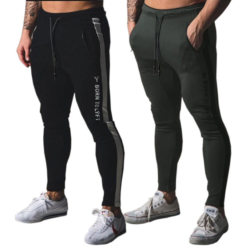 Jogging Pants Men Sport Sweatpants Running Pants Men Joggers Cotton Trackpants Slim Fit Pants Bodybuilding Trouser 20CK06