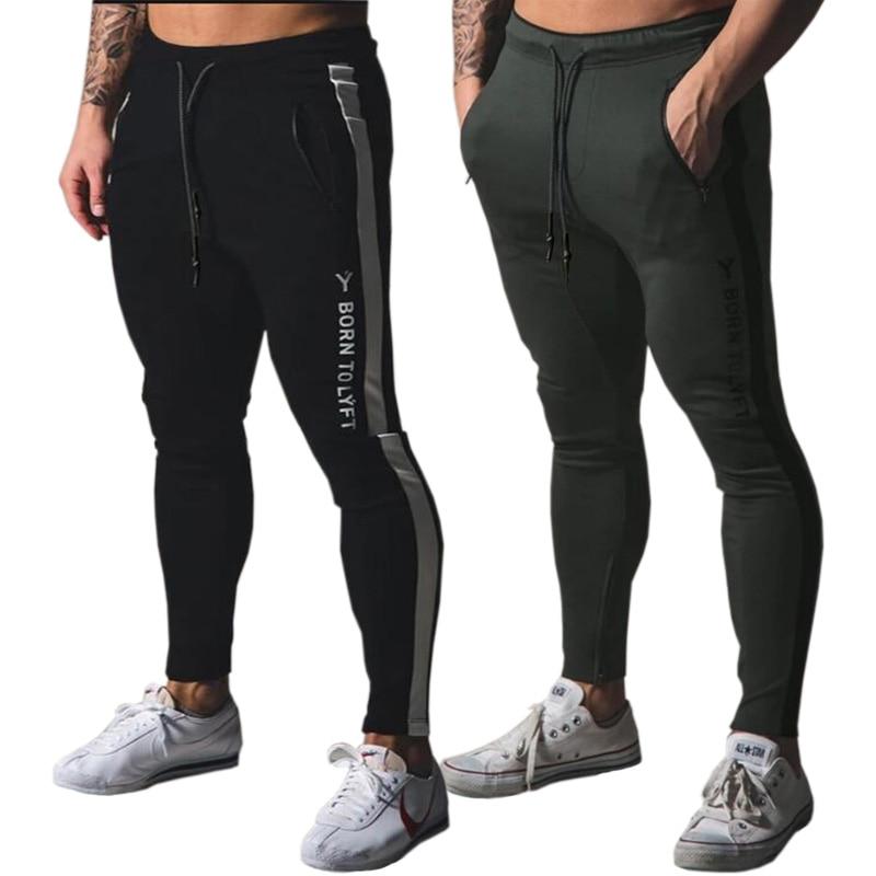Jogging Pants Men Sport Sweatpants Running Pants Men Joggers Cotton Trackpants Slim Fit Pants Bodybuilding Trouser 20CK06