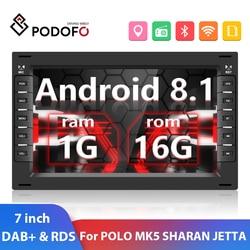 Автомагнитола Podofo, 2DIN, 7 дюймов, Android 8,1, GPS, Wi-Fi, FM, DAB +