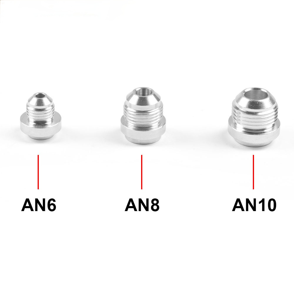 AN6 AN8 AN10 Aluminum Weld On Fittting Bung Nut Valve Cover Catch Can High Quality