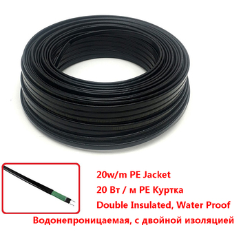 Cable de calefacción autoregulado de alta calidad de 8mm para drenaje de tuberías de agua, protección contra congelamiento de 20 W/m, alambres para descongelar nieve y derretir