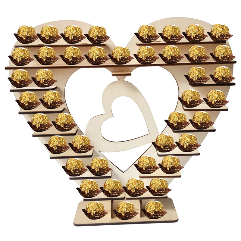 Wooden Heart Chocolate Dessert Display Stand Holder Wedding Table Decor Lord Of The <font><b>Rings</b></font> Twenty One Pilots <font><b>Bisexual</b></font> New image