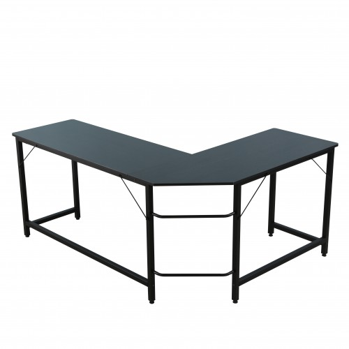 Modern Design L-Shaped Desk Corner Computer Desk PC Laptop Computer Table Study Desk Home Office Wood &Amp Metal