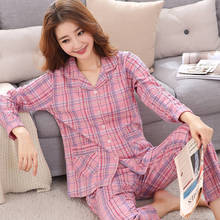 Women Pajamas Sets Cotton Nightwear Autumn Pyjamas Sleepwear long sleeve Full Lounge pijamas