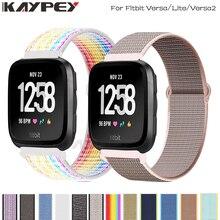 Nylon Loop Woven Strap for Fitbit Versa/Lite/Versa2 band Smart watch replacment Watchband Sport Bracelet for Fitbit Versa 2 band