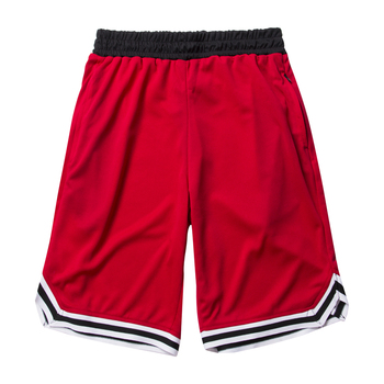 Men Gym Fitness Bodybuilding Short Pants Summer Thin Male Basketball Stripe Training Casual Shorts Running Sport Shorts Men Jogging Pants Men Sportswear Men Sportswear Men Swimwear Men Workout Shorts Running & Yoga Running Shorts Sporting Goods Sports & Entertainment Sports and Outdoor Color: Red Size: L