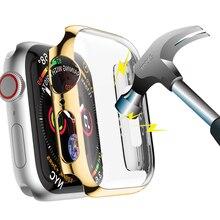 Защитный чехол для Apple Watch 4, 3, iwatch band 42 мм, 38 мм, 44 мм, 40 мм, защитная крышка для экрана из поликарбоната, водонепроницаемая оболочка 42