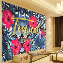 Dream Tropical Plant Leaves Tapestry Blue Wall Hanging Indian Mandala Hippie Flowers Nordic Living Room Decoration