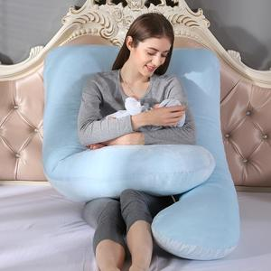 Прозрачная бархатная u-образная наволочка для беременных, многофункциональный съемный однотонный для беременных, наволочки для сна
