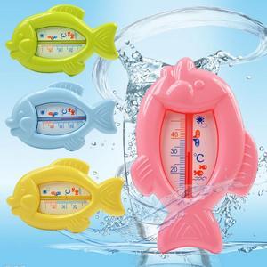 Termómetro flotante con forma de pez para baño de bebé, temperatura del agua, herramienta de seguridad, juguetes para la bañera, flotador de resina, Sensor de aire de agua, fácil visualización