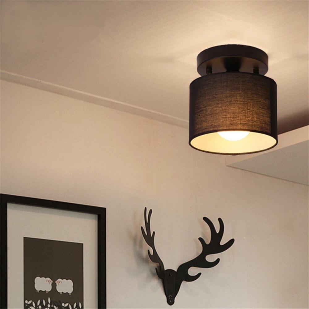 Moderne einfache LED Decke licht traditionelle 25CM Tuch runde schatten lampe für Schlafzimmer korridor küche beleuchtung leuchte