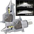 JALN7 H4 светодиодный головной светильник истребитель автомобильный светильник 9003 HB2 высокое 12В для ближнего и дальнего света мотоцикла HS1 DC ла...