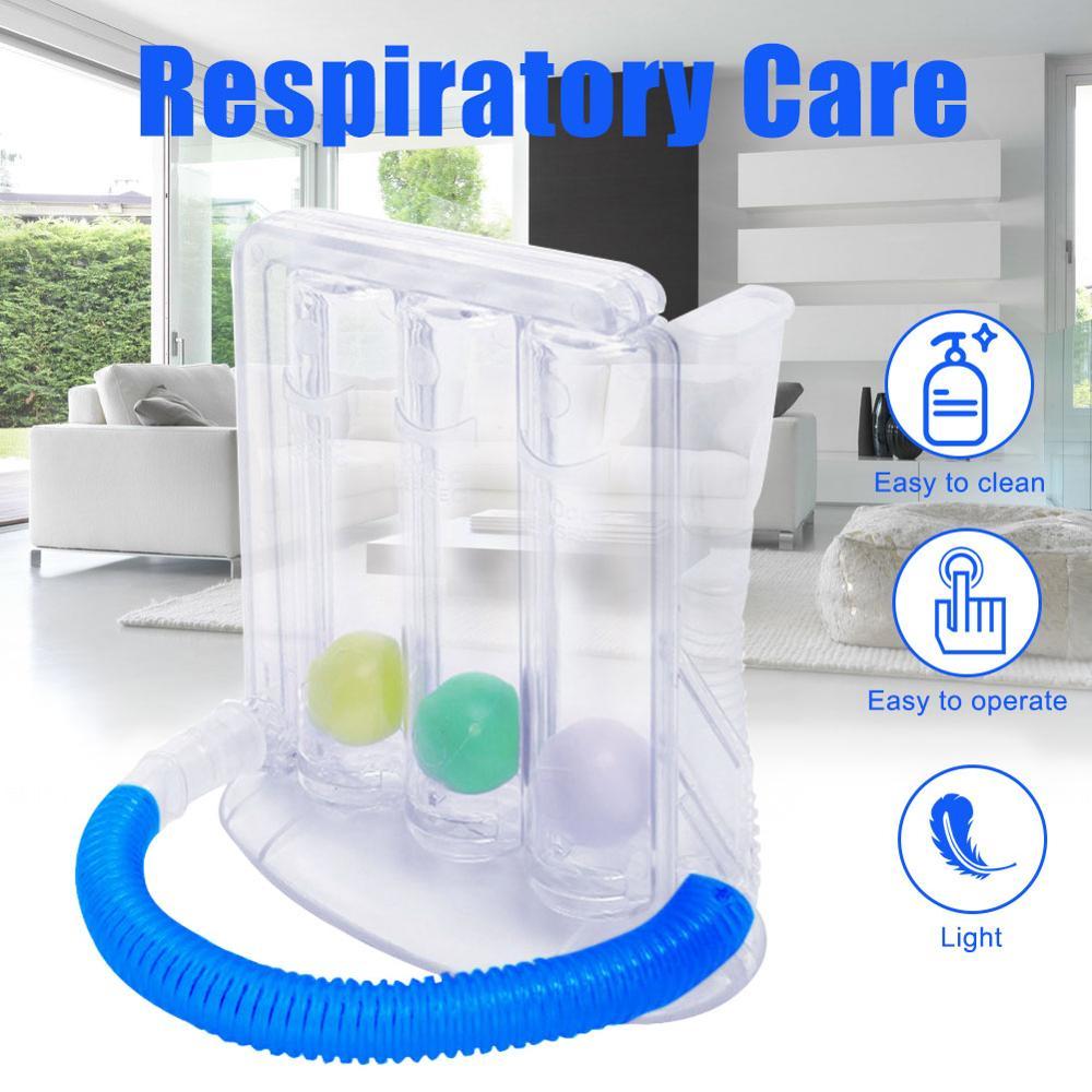 Breathing Trainer Vital Capacity Exercise Three-ball Meter Spirometry Trainer Lung Function Exerciser