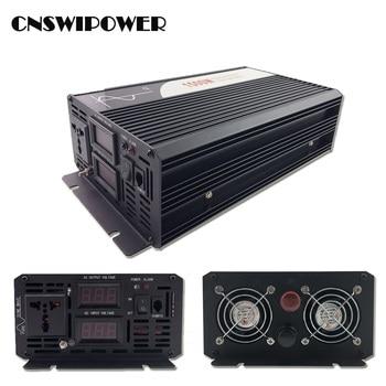 1500W pure sine wave solar power inverter DC 12V 24V 48V  to AC 110V 220V with remote control 6