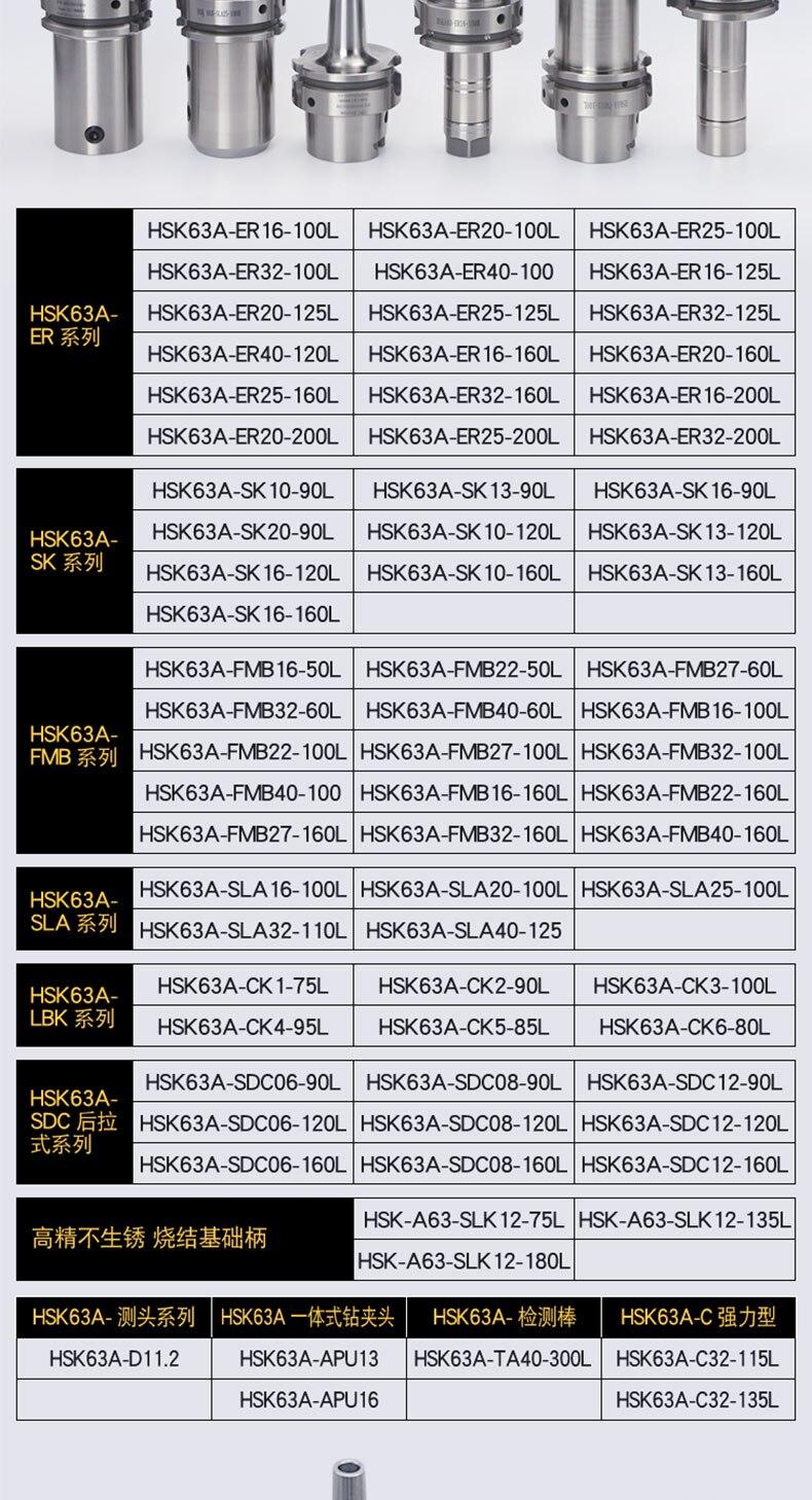 Suporte da ferramenta HSK25 ER11 16 20 DC06 SK10 titular