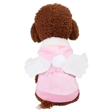 Pet Warm Coat For Autumn And Winter Small Dogs Funny Fashion Accessories Angel Cosplay Costume With Wings