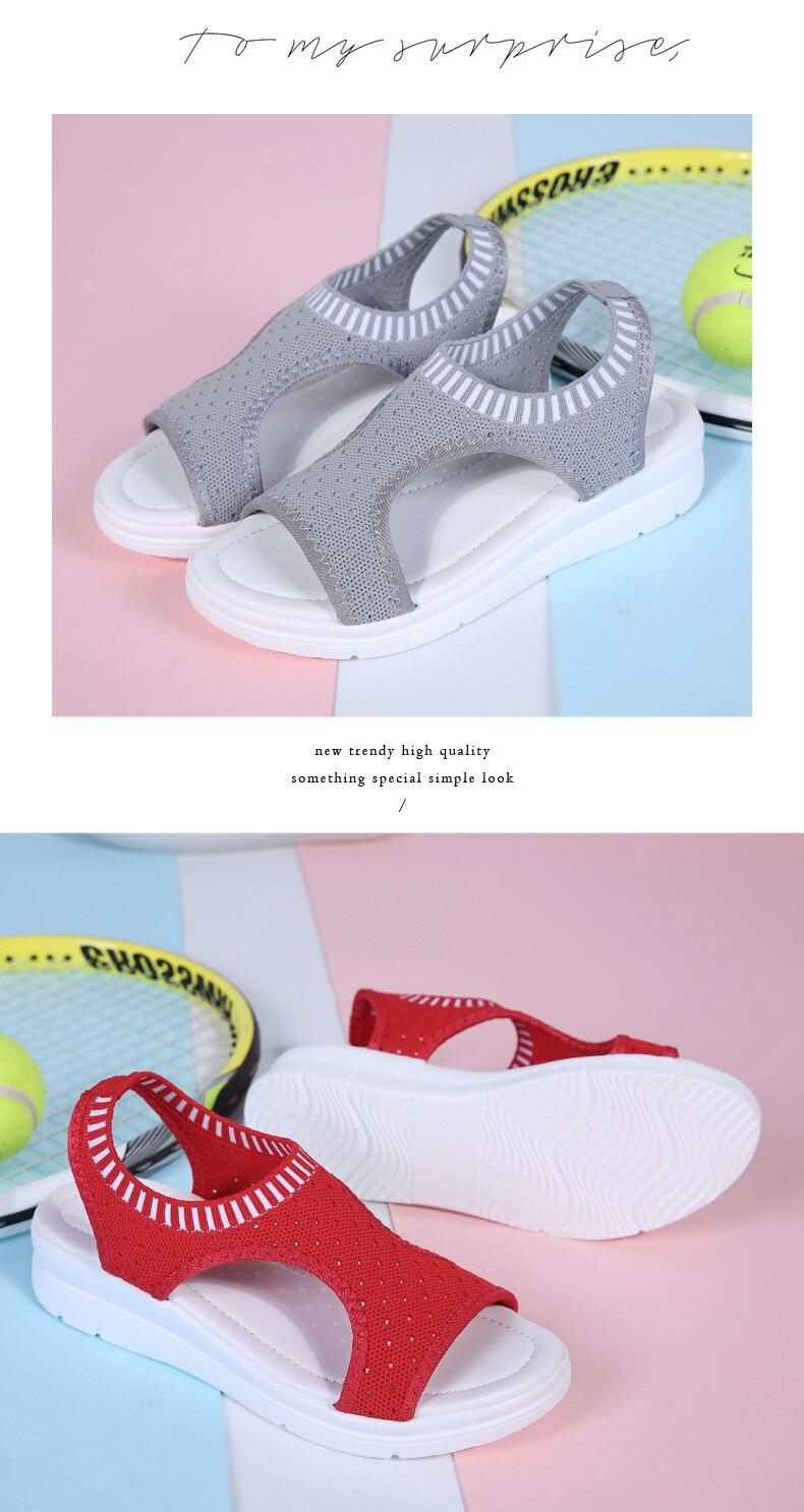 H2d4a9d3b2681404ab80d457baa5d76a7U WDZKN 2019 Sandals Women Summer Shoes Peep Toe Casual Flat Sandals Ladies Breathable Air Mesh Women Platform Sandals Sandalias