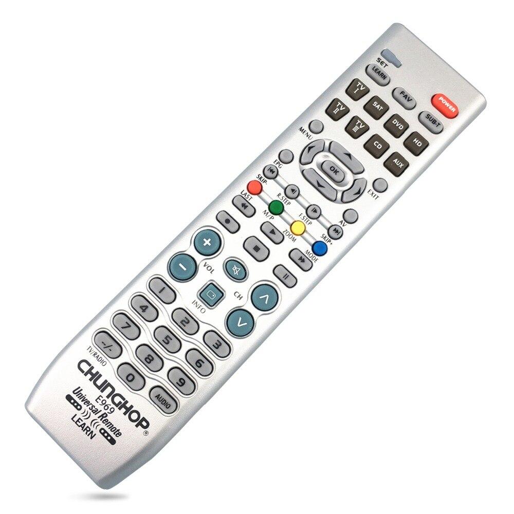 Télécommande d'apprentissage pour téléviseur PVR VDO DVD CD SAT AUD universel
