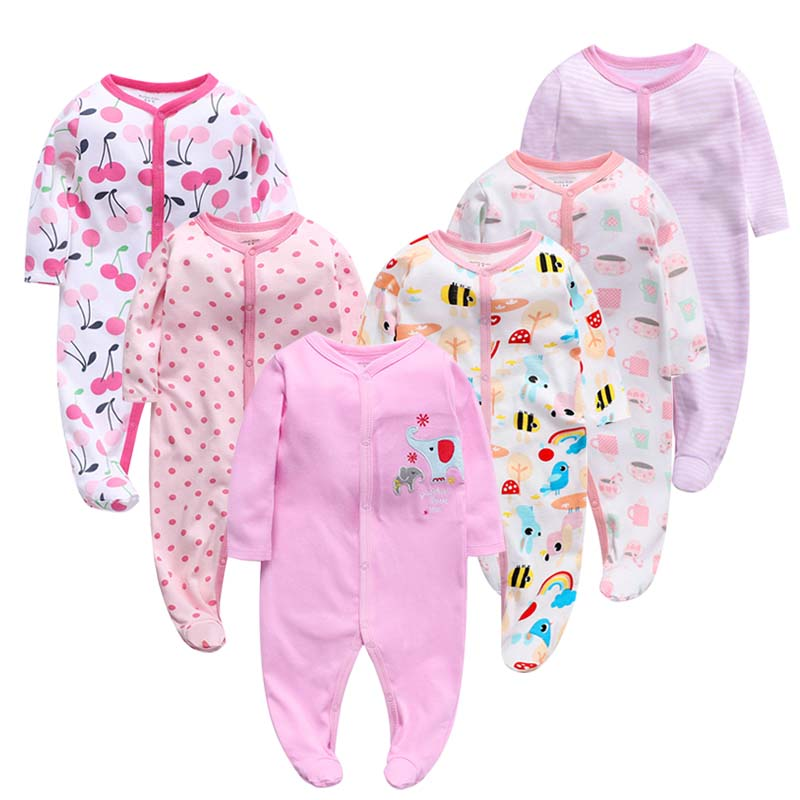 6PCS/LOT Baby Rompers 2019 Long Sleeve 100%Cotton overalls Newborn clothes Roupas de bebe boys girls jumpsuit&clothing-in Rompers from Mother & Kids    1