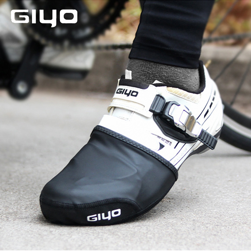 Cycling Shoes Cover Half Palm Toe Lock Windproof Bicycle Protector Boot Case Upper PU Material Sole Thick wear-Resistant
