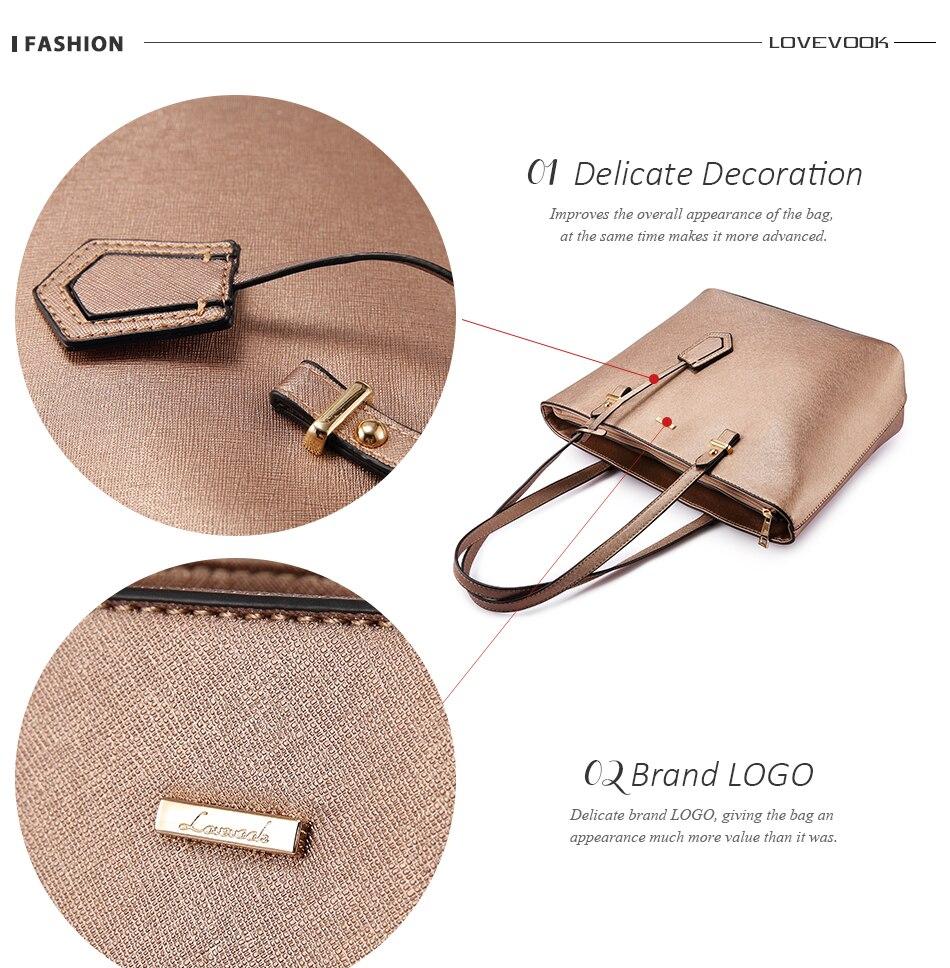 Lovevook bolsa feminina sacos de ombro designer