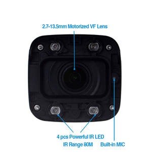 Image 4 - Dahua $ number mp Cámara Bala IPC HFW4431R Z 80 m IR Noche Cámara con 2.7 ~ 12mm lente VF Motorizado Zoom Automático Focus Cámara Bullet IP