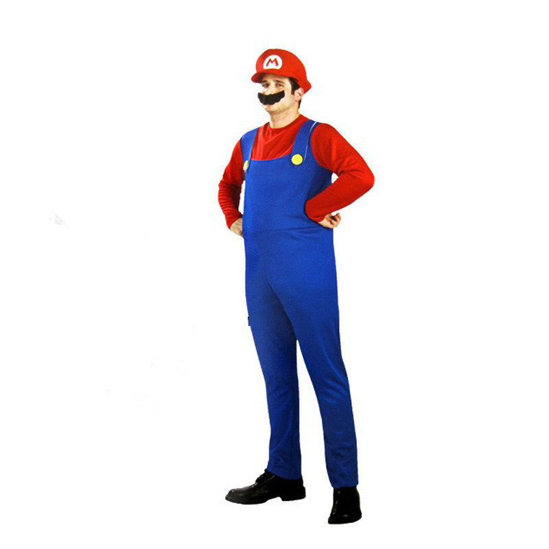 Super Luigi Brother Costume for Kids Halloween Costumes Funny Clothes Ma Cosplay for Boys Girls Fantasia Jumpsuit 6