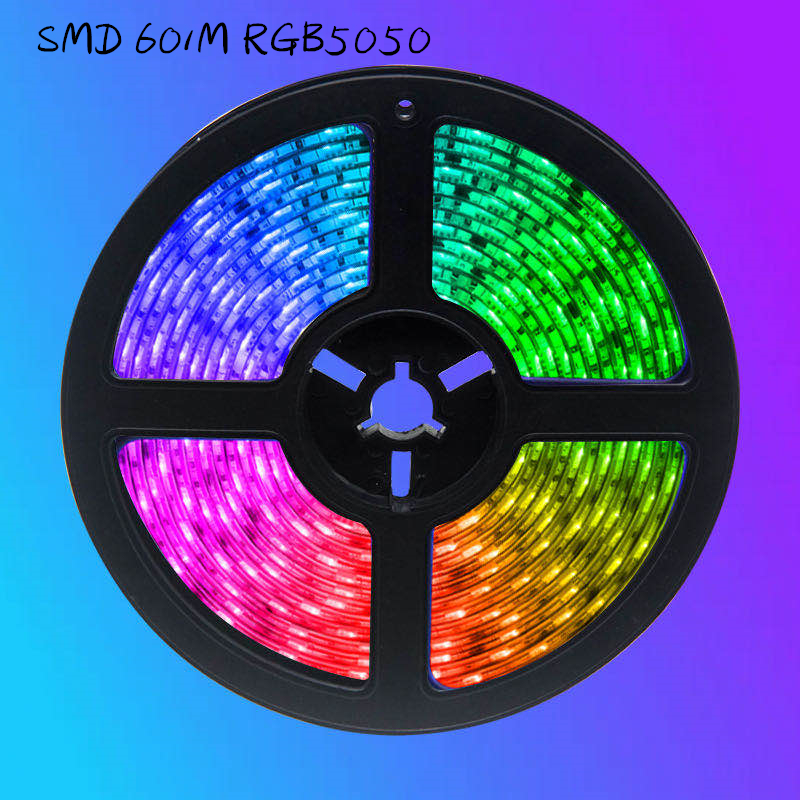 LED Strip Lights Bluetooth luces Led SMD60 RGB5050 Waterproof Flexible Lamp Tape Ribbon With Diode Tape DC 12V 5M 10M 32.8ft 20M