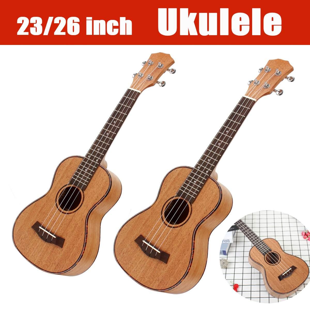 4 String Spring Mahogany Soprano Ukulele Guitar Sapele Rosewood 23 26 Inch Hawaiian Mini Guitar Professional Musical Instruments