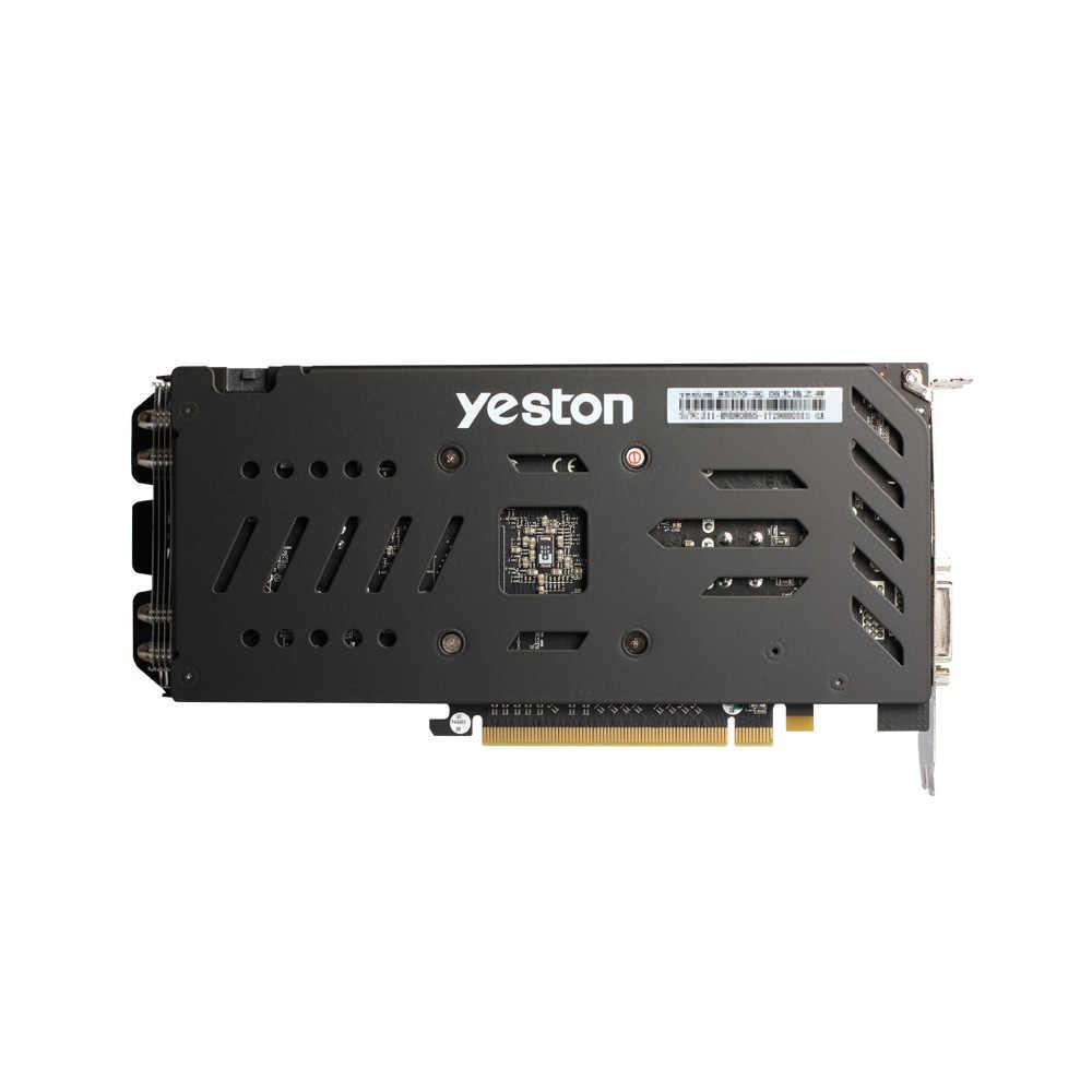 Tarjeta de vídeo de tarjeta gráfica Yeston RX 580 8G GDDR5 256bit juego PCI Express x16 3,0 Video Gaming DVI-D + HD + 3DP para PC de escritorio