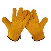 Пара/комплект огнестойкие прочные перчатки сварщика из коровьей кожи анти-нагрев рабочие защитные перчатки для сварки металла ручные инструменты