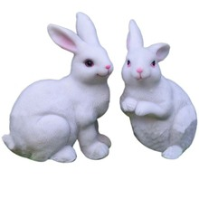 Easter Decorations for Home New Year Cute Rabbit Figurines Miniature Tabletop Ornaments Fairy Garden