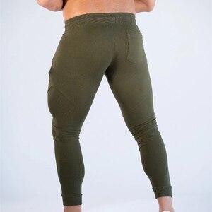 Image 2 - Calça moletom para musculação masculina, calça de algodão para academia e treino, outono/inverno 2019