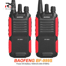 2PCS Baofeng BF-999S PLUS BF 999S Walkie Talkie 5W UHF Amateur Ham CB Radio Station Amador FM VOX HF Transceiver Updated BF-888S