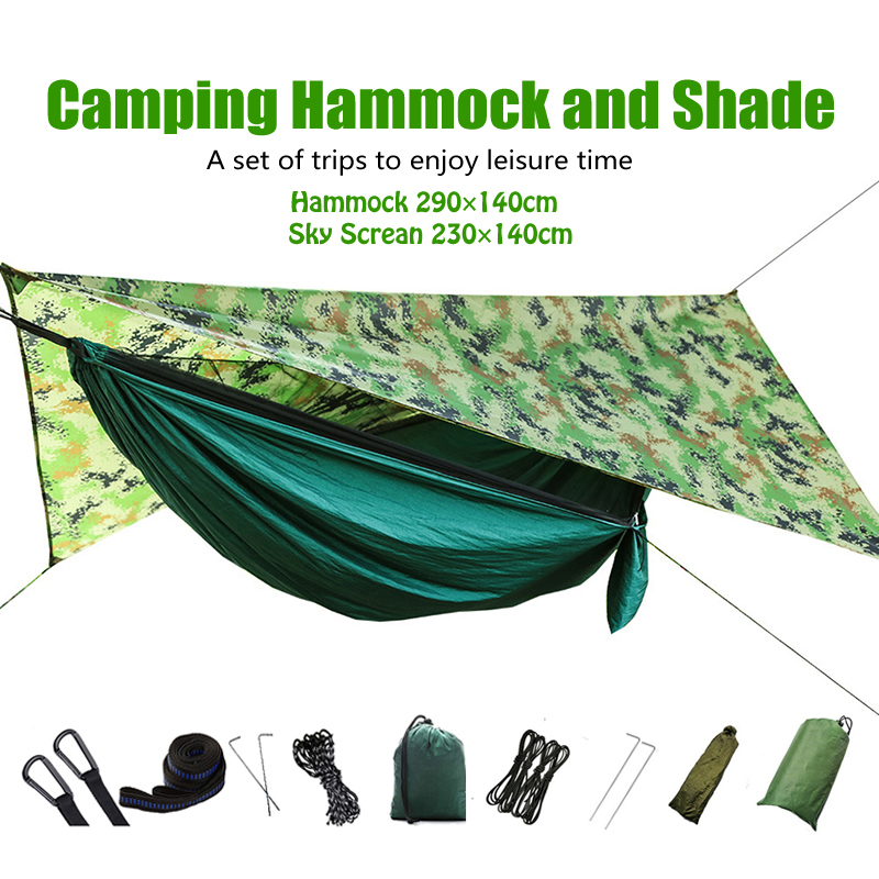 Automatic Outdoor Camping Hammock with Mosquito Net Waterproof Awning Hanging Tent Hanging Sleeping Bed Swing Hammock 1 2 Person in Hammocks from Furniture
