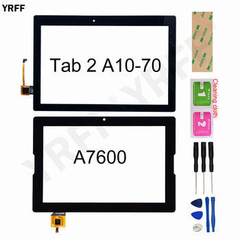 10.1 Screen For Lenovo Tab 2 A10-70 A10-70F A10-70L A7600 A7600-F A7600-H Touch Screen Digitizer Sensor Glass Panel Replacement tempered glass screen protector pu leather stand cover case for lenovo tab2 tab 2 a10 70 a10 70 a10 70f a10 70lc 10 1 tablet