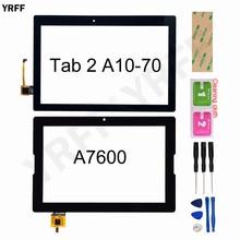 10.1 tela para lenovo tab 2 A10 70 A10 70F A10 70L a7600 A7600 F A7600 H digitador da tela de toque sensor vidro substituição do painel