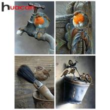Huacan 5d Diamond Painting Bird Farmhouse Home Decor Mosaic Animal Diamond Art Full Drill Embroidery Handmade Gift