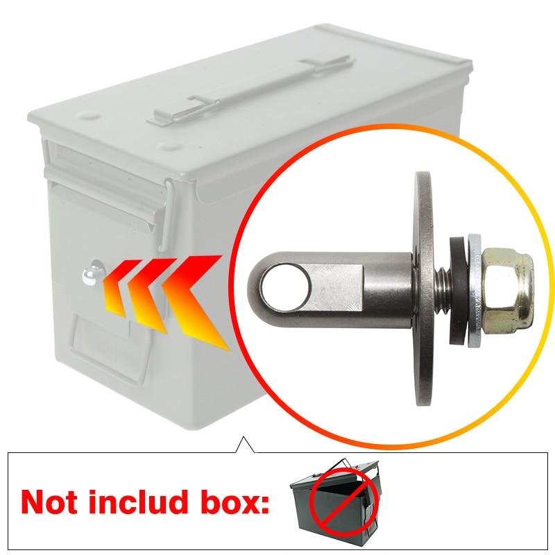 No Box,Bolt 50 Cal Ammo Can Steel Gun Lock Ammunition Gun Safe Box Hardware Kit Military Army Lockable Case 40mm Pistol Bullet