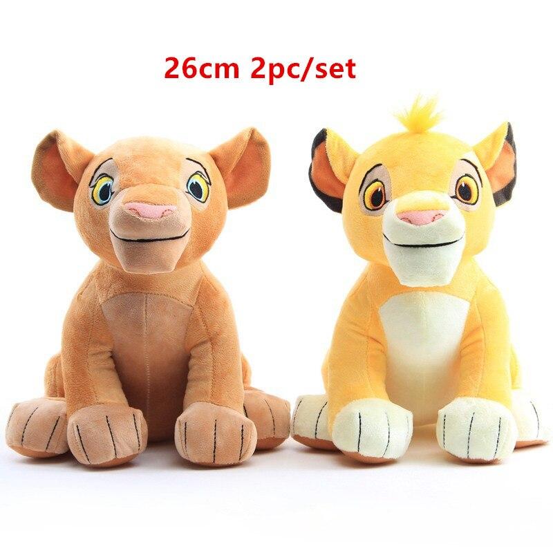 2pc/set New 26cm The Lion King Simba nala Soft kids doll  Simba Stuffed Animals Plush Toy Children toy Gifts Free Shipping