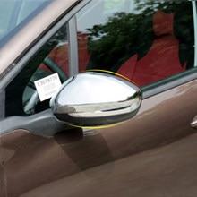 Daefar-espejo retrovisor decorativo cromado, pegatina de cubierta embellecedora para Peugeot 2008, 208, 2007-2012