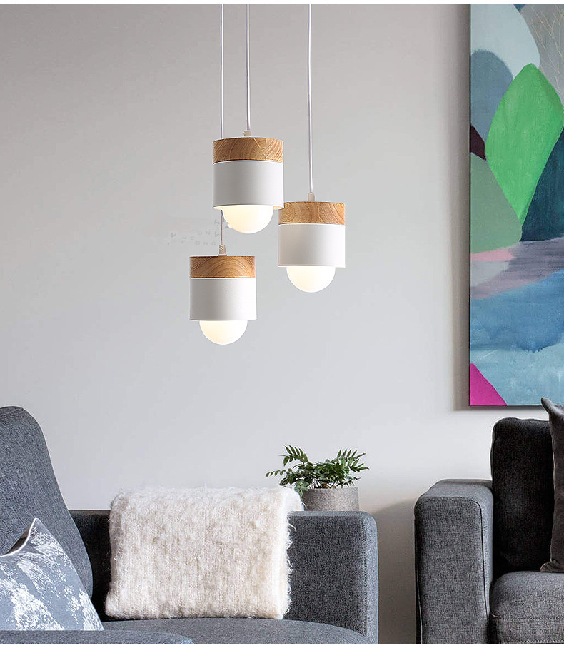 Nordic Led Pendant Lights For Dining Room Adjustable Hanging