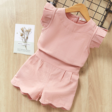 Girls Clothing Sets New Arrival Clothes Spring&Summer O-Neck Sleeveless  Solid Kids Children 40