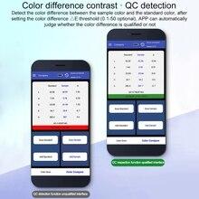 APP Portable Digital Colorimeter Color Difference Meter Color Analyzer 8mm LS171 K43C