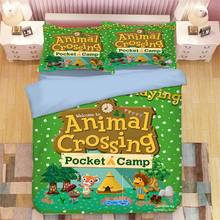 Game Animal Crossing 3D Printed Bedding Cover Bedding Set Duvet Cover Cartoon Giant Comforter Bed Linen