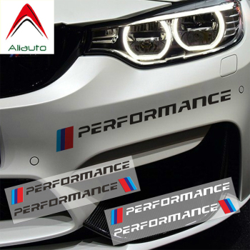 Aliauto 2 X Car Front Sticker Front Bumper Sticker and Decals for BMW E90 E46 E39 E60 F30 F10 F34 X3 X4 X5 E70 F15 X6 M3 M5 image