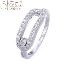 SHADOWHUNTERS Hot Sale Sterling 925 Silver Pave CZ Move Stone Rings For Women Valentienes's Day Gift Fashion Jewelry Making